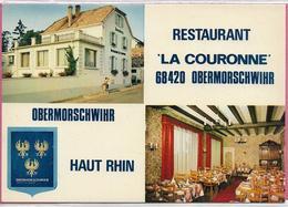 "D68 - OBERMORSCHWIHR - RESTAURANT ""LA COURONNE"" - PROPRIETAIRE M. JEAN-PIERRE WOELFFLIN - MULTIVUES - CPSM Grand Format - France"