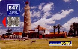 *URUGUAY* - Scheda Usata - Lighthouses