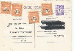 Carte Postale Paris 1945 - Entiers Postaux