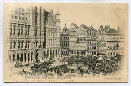 CPA - Carte Postale - Belgique - Bruxelles - Place De L'Hôtel De Ville (SV5951) - Marktpleinen, Pleinen