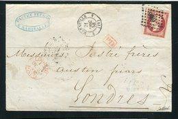 Superbe Lettre De Marseille Pour Londres ( 1858 ) - 1853-1860 Napoléon III.
