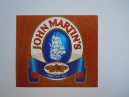 Label Etiquette Bier Bière Beer John Martin's Original Ale 25 Cl 5,8% Vol. - Birra