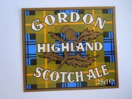 Label Etiquette Bier Bière Beer Gordon Higland Scotch Ale 25 Cl - Bière