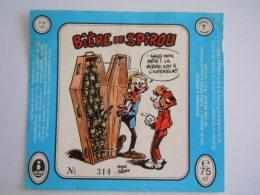 Flyer Bière De Spirou Tome Janry N° 314 75 Cl 8 ° Vol. 1988 Brasserie Pipaix - Alcools