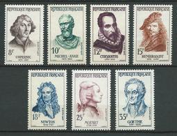 FRANCE 1957 . Série N°s 1132 à 1138 . Neufs ** (MNH) - France