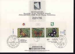 MARSHALL 1994  FEUILLET SOUVENIR PAPILLONS-PHILAKOREA 1994 YVERT N°B19 - Marshall