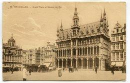 CPA - Carte Postale - Belgique - Bruxelles - Grand Place Et Maison Du Roi - 1909 (SV5954) - Marktpleinen, Pleinen