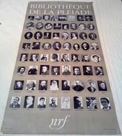 AFFICHE ANCIENNE ORIGINALE D'INTERIEUR Pour Les Editions BIBLIOTHEQUE DE LA PLEIADE écrivains Auteurs - Affiches