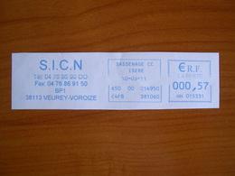 EMA Sur Fragment HH 015331 SASSENAGE  Avec Illustration  SICN - EMA ( Maquina De Huellas A Franquear)