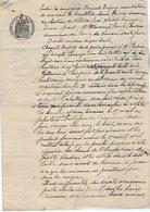 VP13.132 - Acte De 1910 - Entre Mr De SAINT TRIVIER ? Villiers Par OLIVET & CHEVRIER Vente De Bois Situé à VOUSSAC - Manuscrits