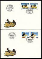 Schweiz Suisse 1999: PINGU Zu 964-965+987-988 Mi 1673-74+1707-8 Yv 1601-2+1635-6 Auf FDC (Zu CHF 9.50) - Philatélie Polaire