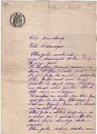 VP13.133 - AUZON - Acte De 1911- Entre Mrs OLLIER à AVIGNON & POUGHEON Vente D'un Champ Situé à AUZON - Manuscrits