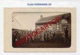 HORNAING-Ecole-CARTE PHOTO Allemande-Guerre 14-18-1WK-France-59-Militaria- - France