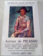 AFFICHE ANCIENNE ORIGINALE EXPOSITION AUTOUR DE PICASSO 1988 Pézenas - Affiches