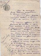 VP13.134 - CHANTELLE - Acte De 1912 - Entre Mrs CHEVRIER & ?? Bail D'une Maison Située à VOUSSAC - Manuscrits