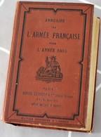 Annuaire De L'Armée Française Pour L'année 1895 Berger-Levrault 1579 Pages + 156 Pages De Publicité Militaria - Bücher, Zeitschriften, Comics