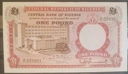 Nigeria UNC 1968 1 Pound Banknote - Nigeria