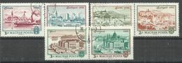 """Ungarn 2805-10A/Zd """"Satz Mit 6 Briefmarken Kpl. Zu 100 Jahre Buda Und Pest Zu Budapest"""" Gestempelt Mi.:1,00 - Hongrie"""