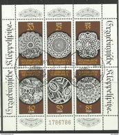 """DDR 3215-3220 Kleinbogen.""""Erzgebirgische Klöppelspitze"""" Sonderstempel Mi.-Preis 3,00 - Blocs"""