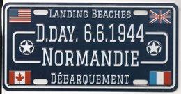 WW2 - Plaque Immatriculation Véhicule - LandingBeaches -  D.DAY 6.6.1944 - 1939-45