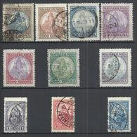 TEN AT A TIME - HUNGARY 1921-1925 - MADONNA AND CHILD - LOT OF 10 DIFFERENT - USED OBLITERE GESTEMPELT USADO - Hungary