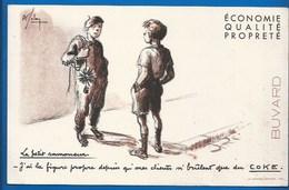 BUVARD ILLUSTRÉ - LE COKE - Petit Ramoneur à La Figure Propre...! - Electricity & Gas