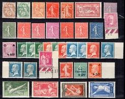 France Belle Collection D'anciens Neufs ** MNH 1900/1940. Bonnes Valeurs, Gommes D'origine. TB. A Saisir! - France