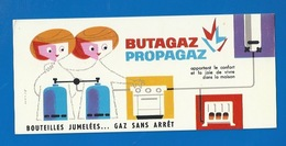 BUVARD ILLUSTRÉ - Chauffage - GAZ - BUTAGAZ ET PROPAGAZ - BOUTEILLES JUMELÉES, GAZ SANS ARRET - Electricity & Gas