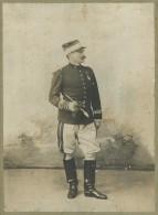 Photo Jean Geiser à Alger . Militaire . Capitaine De Cavalerie . Voir état . - Guerre, Militaire