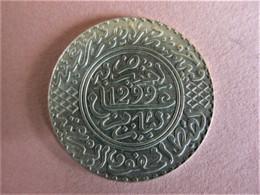 MAROC 5 DIRHAMS (1/2 RIAL) ARGENT AH 1299 (1881) PARIS - Morocco