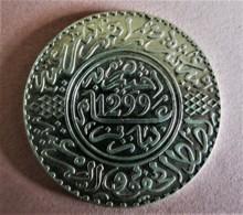 MAROC 10 DIRHAMS (1 RIAL) ARGENT AH 1299 (1882) PARIS - Morocco