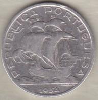 Portugal 10 Escudos 1954 En Argent - Portugal