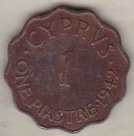 Chypre 1 Piastre 1942 George VI - Chypre