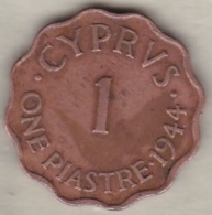 Chypre 1 Piastre 1944 George VI - Cipro