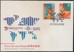 Macau Macao Chine FDC 1988 - Novos Serviços Postais - New Postal Services - MNH/Neuf - FDC