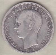 Grèce 1 Drachma 1873 Georges I En Argent - Grèce