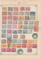EGYPTE Lot Collection  1 Page De Timbres Anciens Avant 1906  - Tous états Non Triés - Égypte