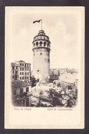 TRPR7-81 CONSTANTINOPLE ROUR DE GALATA - Türkei