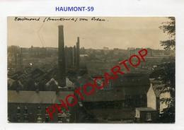 HAUTMONT-Usines-CARTE PHOTO Allemande-Guerre 14-18-1WK-France-59-Militaria- - France