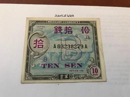 Japan Military Banknote 10S 1940' - Japan