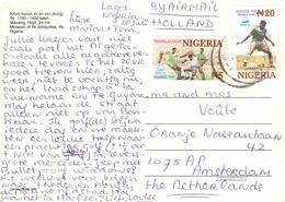 NIGERIA - PICTURE POSTCARD 1998 -> AMSTERDAM/NL - Nigeria (1961-...)