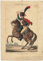 Planche Uniforme - Chasseurs à Cheval - Garde Impériale - Napoléon Empire - Martinet - Documents