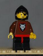 Lego Personnage Loups Wolfpack 2 Avec Bras Bruns Oeuil Ferme Capuche Noire Ref Cas251 - Lego Technic