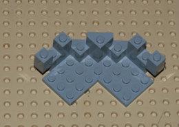 Lego Tourelle Chateau 7x7x2 Gris Ref 6072 - Lego Technic