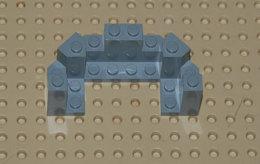 Lego Tourelle Gris De Chateau Ref 6066 4x8x2 1.3 - Lego Technic
