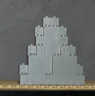 Lego Rock Rocher Gris Clair 3 X 8 X 7 Triangular Ref 6083 - Lego Technic