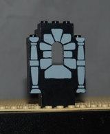 Lego Panneau Fenetre Noire 2 X 5 X 6 Avec Motif Pierres Et 2 Colonnes Ref 4444pb04 - Lego Technic