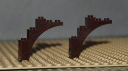 Lego Lot 2 Brique Voute Brune 1x5x4 Ref 2339 - Lego Technic
