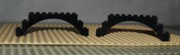 Lego Lot 2 Brique Arche Noire 1x12x3 Ref 6108 - Lego Technic