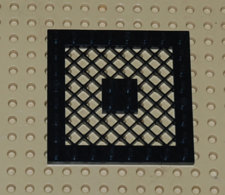 Lego Plate Grille Noire 8x8  Ref 4151 - Lego Technic